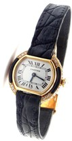 Cartier Ellipse 18K Yellow Gold Diamond & Black Onyx 23mm Womens Watch