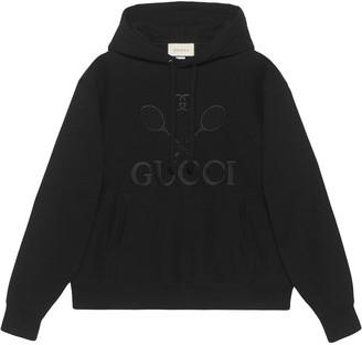 Gucci Hooded sweatshirt with Tennis