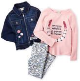 Lucky Brand Girls 4-6x) 3-Piece Jacket, Top & Leggings Set