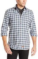 Stone Rose Men's Speckled Gingham Long-Sleeve Shirt