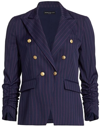 Generation Love Stella Pinstripe Double-Breasted Blazer