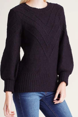 Kensie Variegated Cotton Sweater