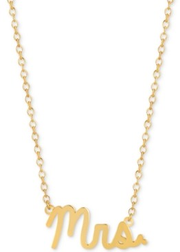 """Sarah Chloe Mrs. 16""""-18"""" Pendant Necklace in 14k Gold Over Sterling Silver"""