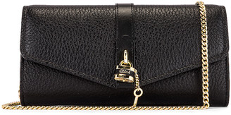 Chloé Aby Wallet on Chain Bag in Black | FWRD