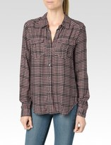 Paige Mya Shirt - Black/Adobe Rose Hartford Plaid