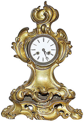 One Kings Lane Vintage French Rococo-Style Bronze Mantel Clock - House of Charm Antiques