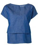 Co layered denim blouse