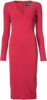 DSQUARED2 V-neck fitted dress