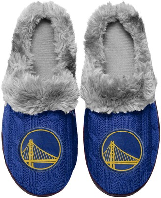 Women's Golden State Warriors Cable Knit Slide Slippers
