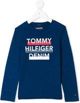 Tommy Hilfiger Junior printed logo long sleeved T-shirt