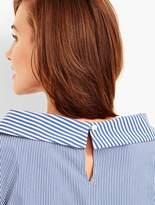 Talbots Portrait-Collar Shirt - Stripes