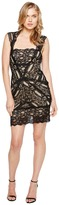 Nicole Miller Stretch Lace Dress With Open Back Detail Women's Dress