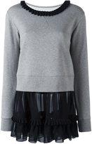 MM6 MAISON MARGIELA collar contrast sweatshirt
