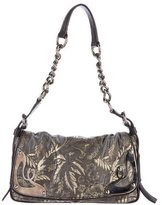 Miu Miu Leather-Trimmed Brocade Bag