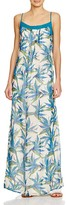 Ella Moss Tropical Silk Maxi Dress