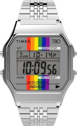 Timex Pride T80 Digital Bracelet Watch, 34mm