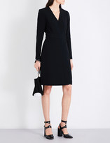 Diane von Furstenberg Long-sleeved crepe wrap dress