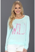 Billabong Wild And Fun L/S Pullover Top (Mo-Mint) - Apparel