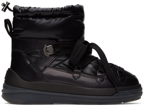 Moncler Black Down Insolux Ankle Boots