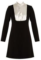 Lanvin Satin-bib crepe dress