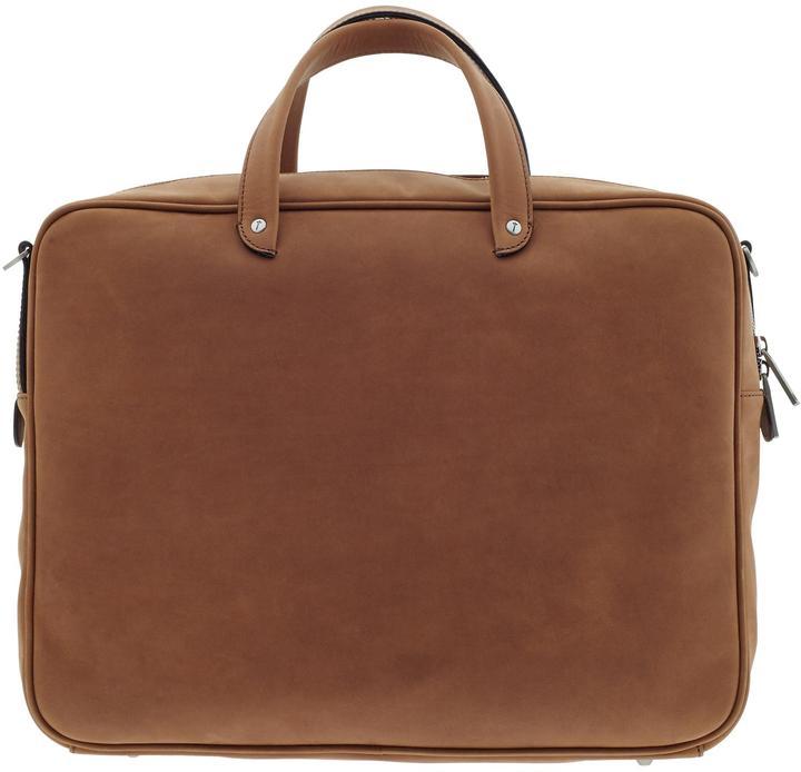 Jack Spade Summit Leather Supply Brief