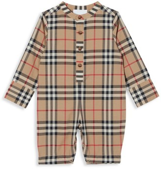 Burberry Baby's Pierre Check Print Jumpsuit
