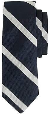 J.Crew English silk tie in diagonal stripe