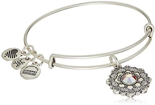 Alex and Ani Mother of The Bride Expandable Charm Bracelet, Rafaelian Silver-Tone