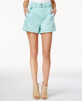 GUESS Sierra Cotton Paper Bag Shorts