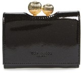 Ted Baker Women's Delisa Glitter Kiss Lock Leather Wallet - Black