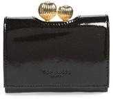 Ted Baker Women's Delisa Glitter Kiss Lock Leather Wallet - Black