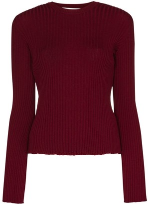 Marques Almeida Ribbed-Knit Fitted Jumper