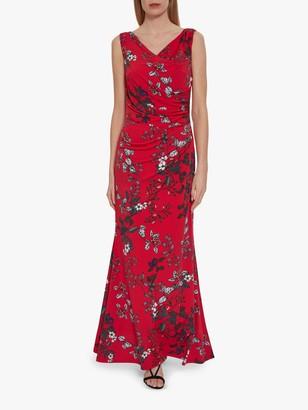 Gina Bacconi Jovita Floral Dress, Red