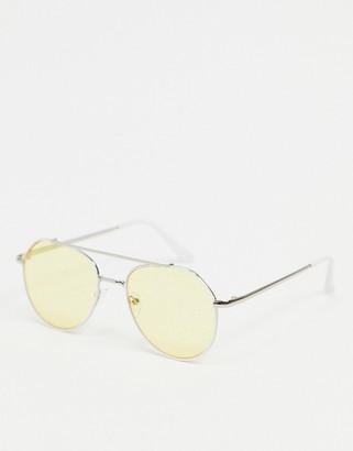 A. J. Morgan AJ Morgan aviator sunglasses in silver