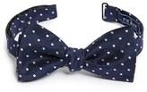The Tie Bar Men's Dot Silk & Linen Bow Tie