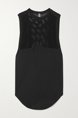 Varley Harvey Perforated Stretch Tank - Black