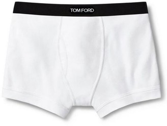 Tom Ford Stretch-Cotton Logo Boxer Briefs