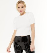 Thumbnail for your product : New Look Petite Short Sleeve Fluffy Knit Top
