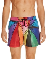 Ps Paul Smith Umbrella Print Swim Trunks