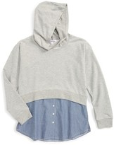 Ten Sixty Sherman Girl's Layered Hoodie