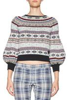 Alexander McQueen Fair Isle Bell-Sleeve Sweater, Multi