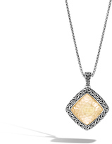 John Hardy Women's Classic Chain Pendant Necklace, Sterling Silver and Hammered 18K Gold