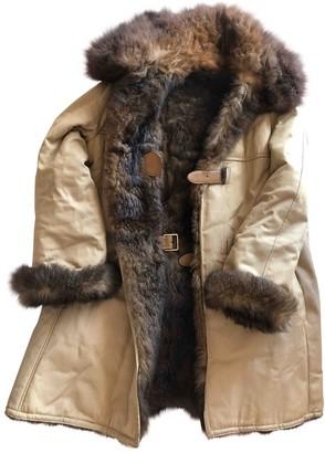 Gucci Beige Fur Coat for Women Vintage