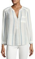 Joie Almae Striped Gauze Top, White