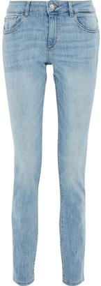 DL1961 Coco Distressed High-rise Slim-leg Jeans