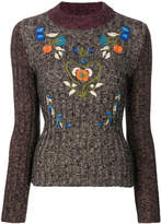 RED Valentino embroidered ribbed sweater