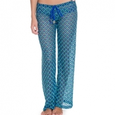 Luli Fama Beach Pant In Electric Blue (L470839)