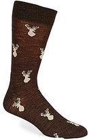 Daniel Cremieux Deer Novelty Pattern Crew Dress Socks