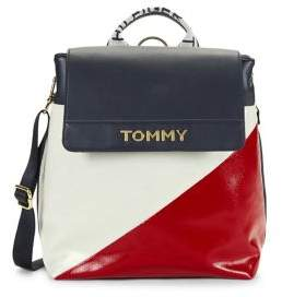 Tommy Hilfiger Cassie Nylon Colorblock Flap Backpack