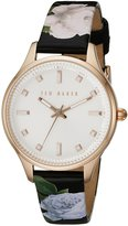 Ted Baker Women's Classic Charm Collection Custom Leather Strap Watch Rose Gold